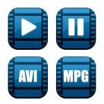 Movie icons set — Stock Vector #8195772