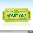 Stock Vector: Springtime ticket admission