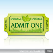 Springtime ticket admission — Stock Vector