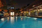 Hotel Pool at Night — Stock Photo
