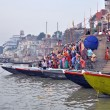 Stock Photo: Ghat in Varanasi, India
