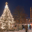 Stock Photo: Christmas Market in Litomerice, Czech Republic