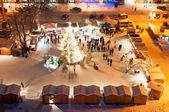 Christmas Market in Litomerice, Czech Republic — Stock Photo