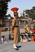 Wagah Border Guard — Stock Photo