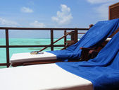 Sun Beds at Maldives — Stock Photo
