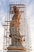Construction of a Chinese god — Stock Photo