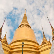 Gold pagoda, surrounded by the pagoda - Stock Photo