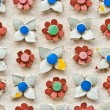 Flower tiles background texture — Stock Photo