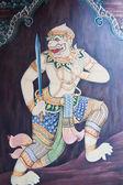 Väggmålning i wat phra kaew — Stockfoto
