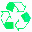 Photos recycling symbol — Stockfoto