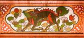Cabeza de dragón unicornio — Foto de Stock