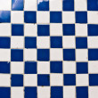 Blue and white square tiles — Stock Photo #10156057