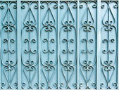 The blue iron gate — Stock Photo