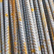 Stock Photo: Steel bar background texture