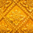 Thai style pattern design handcraft on wood — Stock Photo