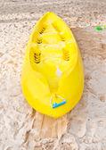 Yellow kayak — Stock Photo