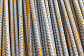 Steel bar background texture — Stock Photo