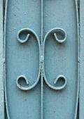 The blue iron gate — Stock Photo