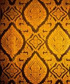 Thai style pattern design handcraft on wood — Stock Photo
