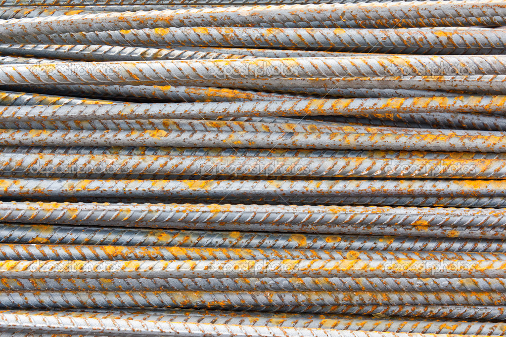 The steel used in construction background texture  Stock Photo #10161998