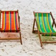 Chairs on the beach — Lizenzfreies Foto