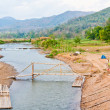 Stock Photo: Rivers and bridges bamboo
