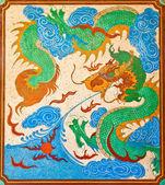 Dragon in a circle — Stock Photo