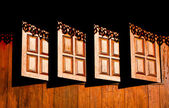 Wooden windows — Stock Photo