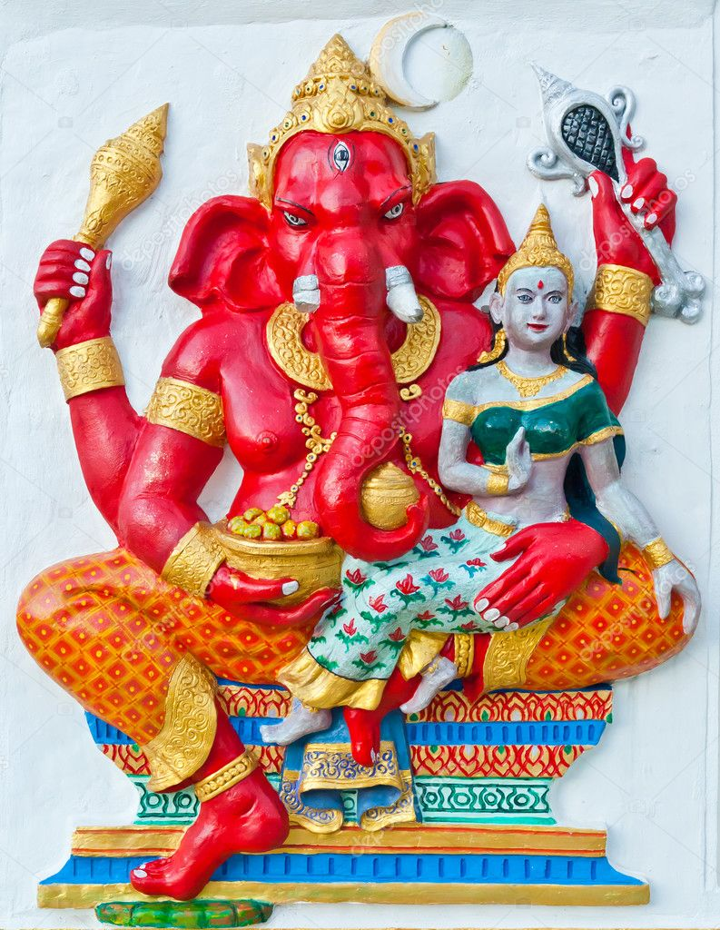 Ganesh is the god of India. Located in Thailand — Stock Photo #9992014