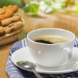 Coffee and cookies on the table — Stock Photo