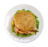 Sandwich on the plate — Stock Photo