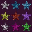 Stock Vector: Seamless Snowflakes Background Pattern