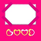 Originally postcard or photo frame on Valentine — Stock Vector