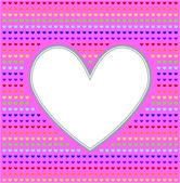 Valentine hearts photo frame all rainbow colors — Stock Vector