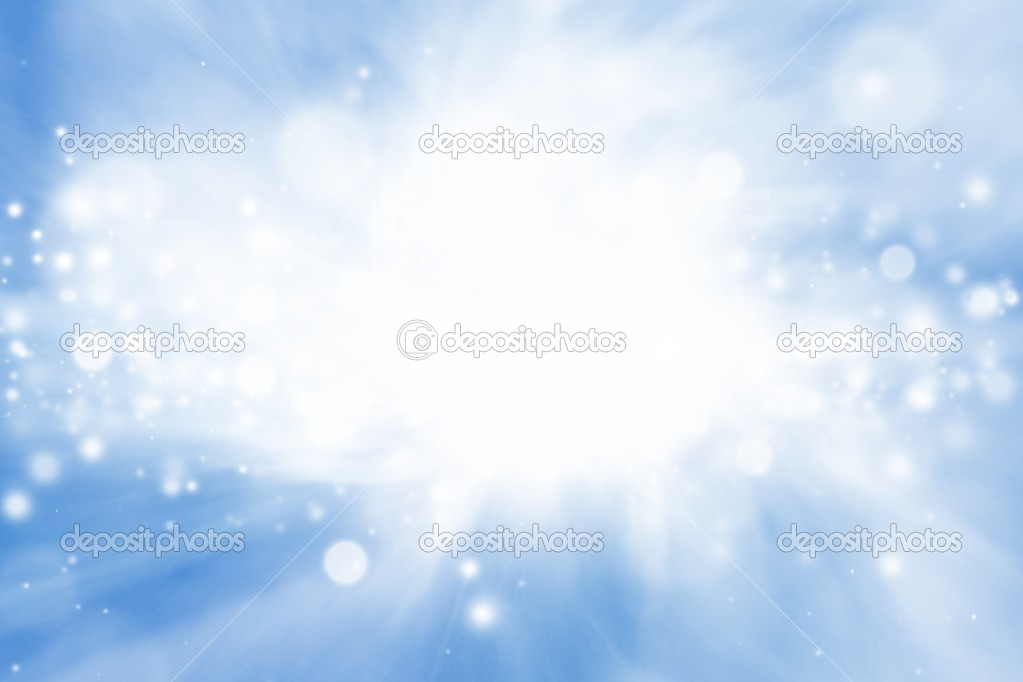 Peaceful background - bright sun, blue sly, white clouds - heaven — Stock Photo #10351499