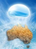 Abstract Australia map — Stock Photo