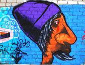 граффити на стене — Стоковое фото