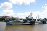 Hms Belfast in London — Stock Photo