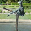 Ballerina - fountain in the Poznan Botanical Garden — Stock Photo
