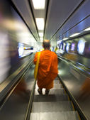 A Monk on the way to somewhare — Stock Photo