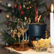 Christmas festive romantic atmosphere — Stock Photo