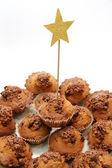 Festive cupcakes — Stock Photo