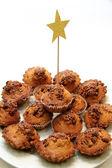 Mountain holiday cupcakes — Stock Photo