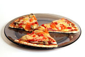 Three slices of pizza — Stock Photo