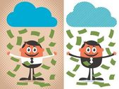 Money Rain — Stock Vector