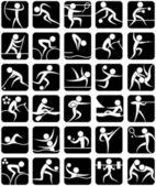 летние спортивные символы — Cтоковый вектор