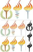 Flaming Torch — Stock Vector