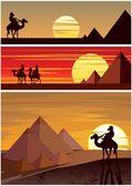 The Pyramids — Stock Vector