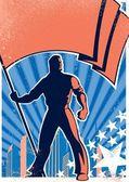 Flag Bearer Poster 2 — Stock Vector