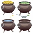 Pots Set — Stock Vector